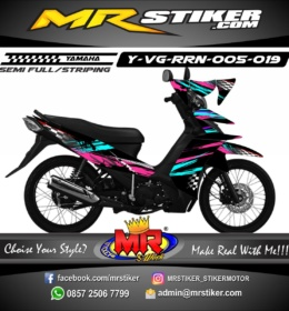Stiker motor decal Vega RR Splat Neon Blue