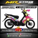Stiker motor decal Vega RR Bubble Fun Color