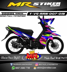 Stiker motor decal Vega RR Blue Racing