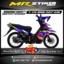 Stiker motor decal Vega RR Blue Racing