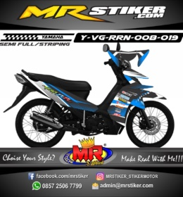 Stiker motor decal Vega RR Line Blue