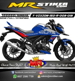 Stiker motor decal Vixion 150 R Red Bull
