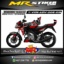 Stiker motor decal Vixion Advance Red Graphic
