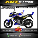Stiker motor decal Vixion Advance marcVDS Blue