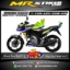 Stiker motor decal Vixion Advance Green Corner