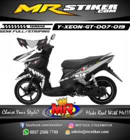 Stiker motor decal Xeon GT Gray Shark