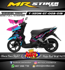 Stiker motor decal Xeon GT Neon color