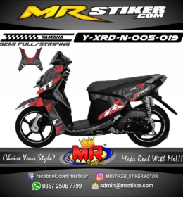Stiker motor decal X-Ride New Lighting Motif