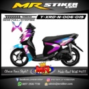 Stiker motor decal X-Ride New Purple Blue