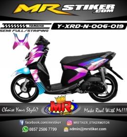 Stiker motor decal X-Ride New Purple Blue