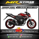 Stiker motor decal CB150R New DC carbon