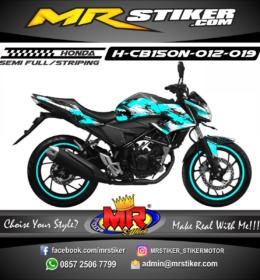 Stiker motor decal CB150R New blue ice splat