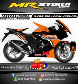 Stiker motor decal CBR150 Lokal Repsol X Redbull