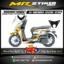 Stiker motor decal Genio Gold Gradation carbon