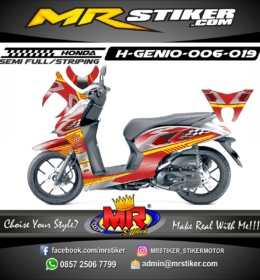 Stiker motor decal Genio Race Start flag