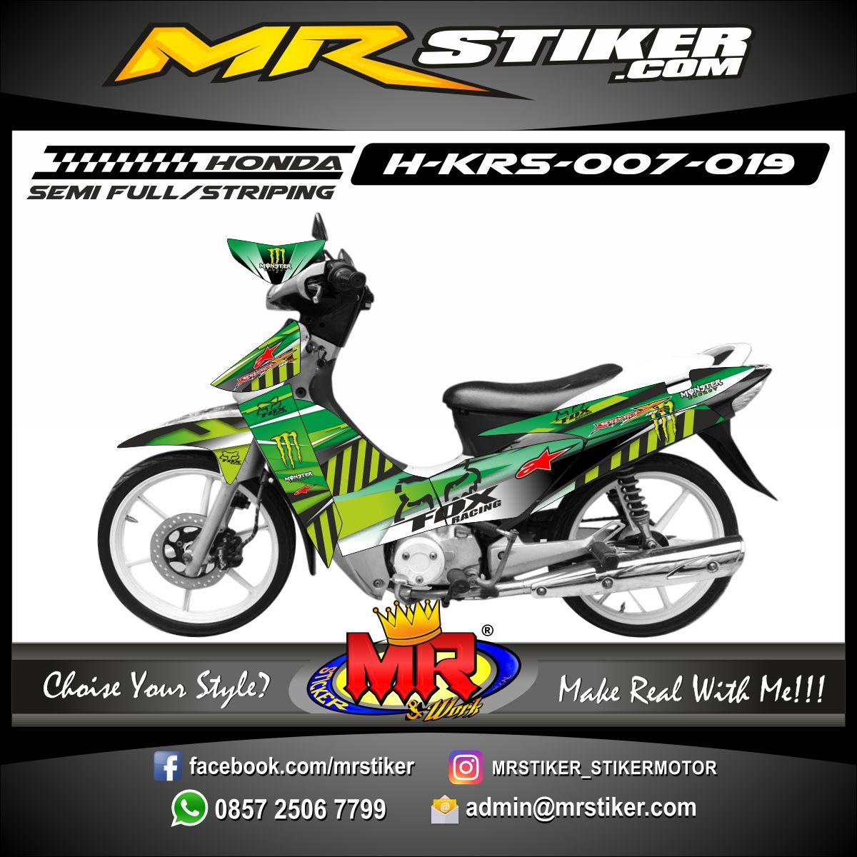 Stiker motor decal Karisma Green Lite Racing