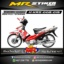 Stiker motor decal Karisma The Wings Red Grafis Race