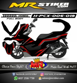 Stiker motor decal Honda PCX 150 Simple Grafis (FullBody)
