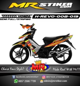 Stiker motor decal Revo orange grafis racing
