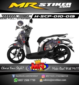 Stiker motor decal Scoopy Rumble