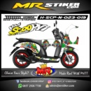 Stiker motor decal Scoopy New minion road race