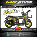 Stiker motor decal Scoopy GOD of War
