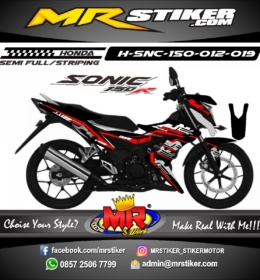 Stiker motor decal Sonic 150R Techno