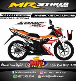 Stiker motor decal Sonic 150R REPSOL Grafis Racing
