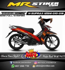 Stiker motor decal Supra X 125 FI HELM IN Carbon
