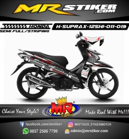 Stiker motor decal Supra X 125 FI HELM IN Techno style