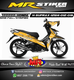 Stiker motor decal Supra X 125 FI HELM IN Tribal