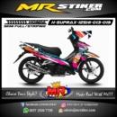 Stiker motor decal Supra X 125 FI HELM IN Splash neon color