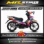 Stiker motor decal Supra X 125 FI HELM IN Splash neon color