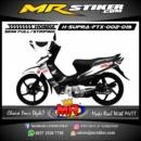 Stiker motor decal Supra FTX Black White version