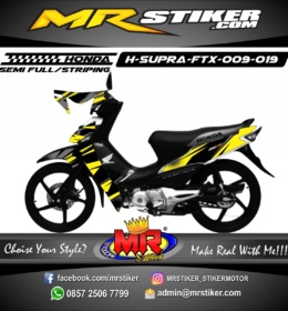 Stiker motor decal Supra FTX Yellow Line Simple