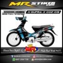 Stiker motor decal Supra X Blue Grafis