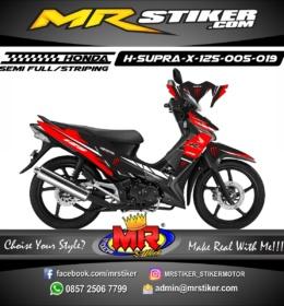 Stiker motor decal Supra X 125 Red blood monster energy