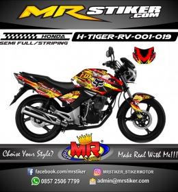 Stiker motor decal Tiger Revo Rockstar X Fox Splater