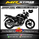 Stiker motor decal Tiger Revo Metalica Black Color