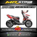 Stiker motor decal Vario CW FI Red honda carbon