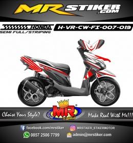 Stiker motor decal Vario CW FI Red honda carbon