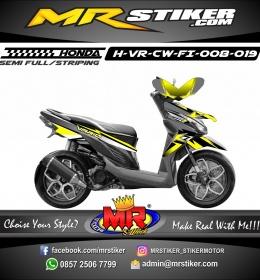 Stiker motor decal Vario CW FI Star yellow