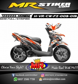 Stiker motor decal Vario CW FI Orange Race star
