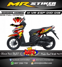 Stiker motor decal Vario EPS Alphinestar X Fox Race