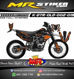 Stiker motor decal D-TRACKER Old Shark orange