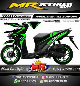 Stiker motor decal Vario 150 Green Strip Neon