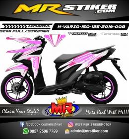 Stiker motor decal Vario 150 Pink strip