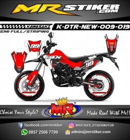 Stiker motor decal D-TRACKER New Red DTX 99