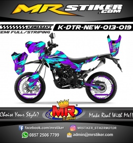 Stiker motor decal D-TRACKER New Splat Abstrak