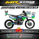 Stiker motor decal KLX 150 Alpinestars Green line blue